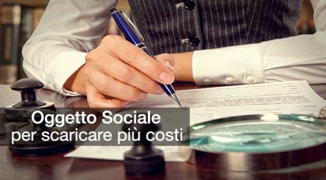 oggetto sociale per scaricare più costi